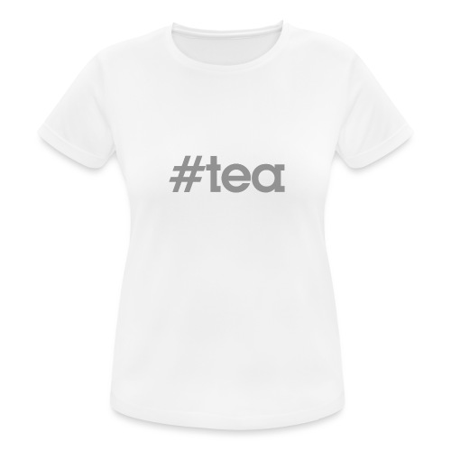 hashtag Tea gris - T-shirt respirant Femme