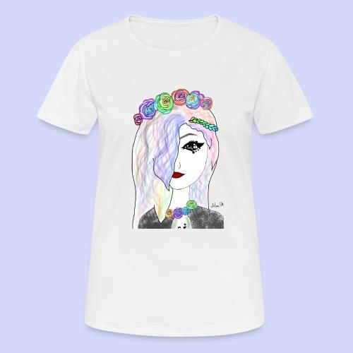 Rainbow flower girl - Female shirt - Dame T-shirt svedtransporterende