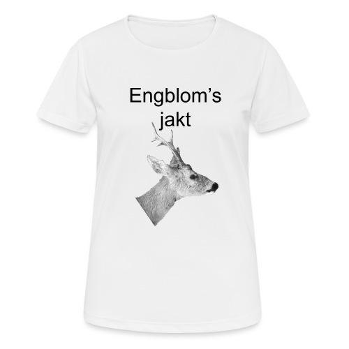 Officiell logo by Engbloms jakt - Andningsaktiv T-shirt dam