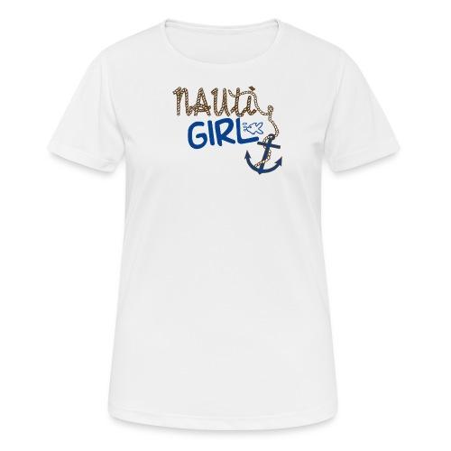 Nauti Girl Nautical Boat Shirt - Women's Breathable T-Shirt