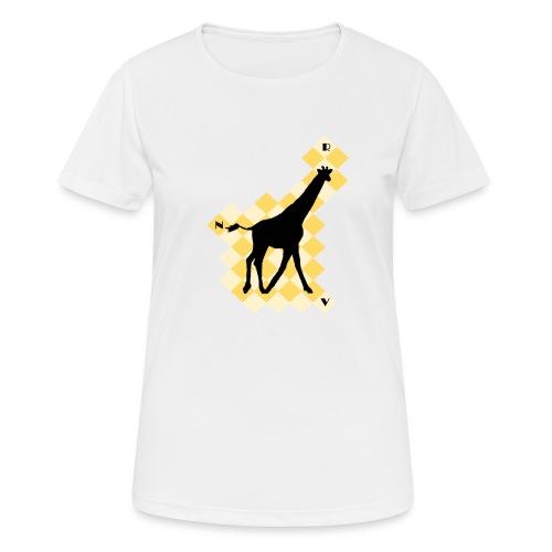 GiraffeSquare - naisten tekninen t-paita