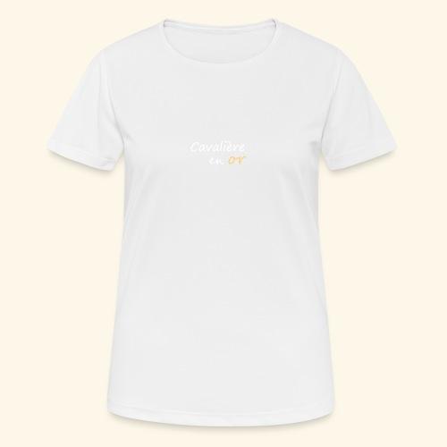 Cavalière en or - T-shirt respirant Femme