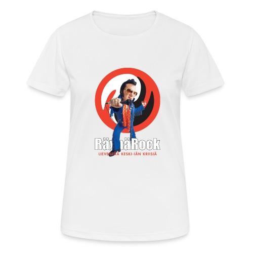 Räyhärock musta - naisten tekninen t-paita