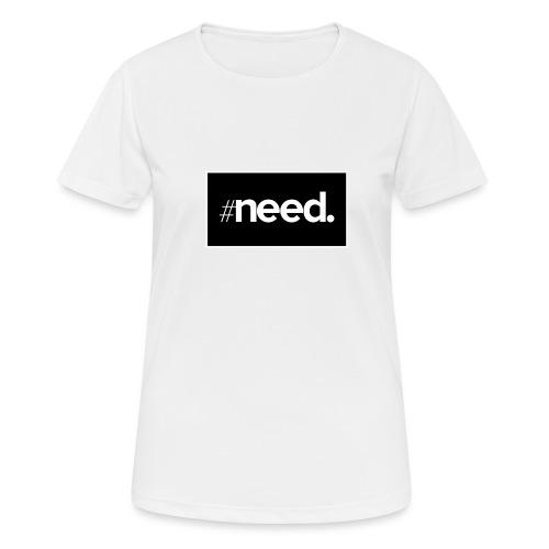 logo need official bg black - T-shirt respirant Femme
