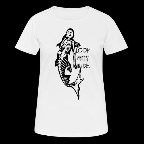 look whats inside - Frauen T-Shirt atmungsaktiv