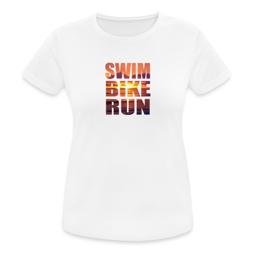 swim bike run @RUNNINGFORCE - Frauen T-Shirt atmungsaktiv