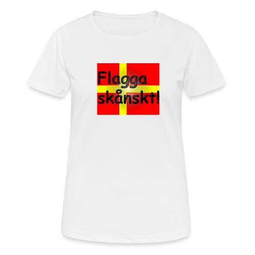 Flagga skånskt! - Andningsaktiv T-shirt dam