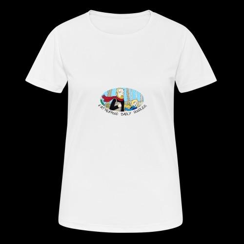Fatherhood Badly Doodled - Women's Breathable T-Shirt