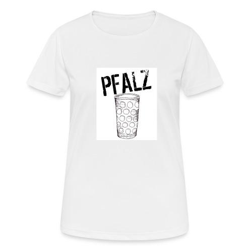 Pfalzshirt mit Dubbeglas, weiß - Frauen T-Shirt atmungsaktiv