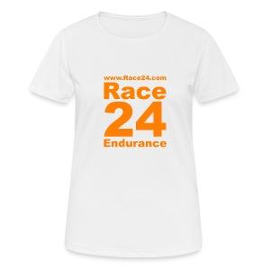 Race24 Logo in Orange - Women's Breathable T-Shirt