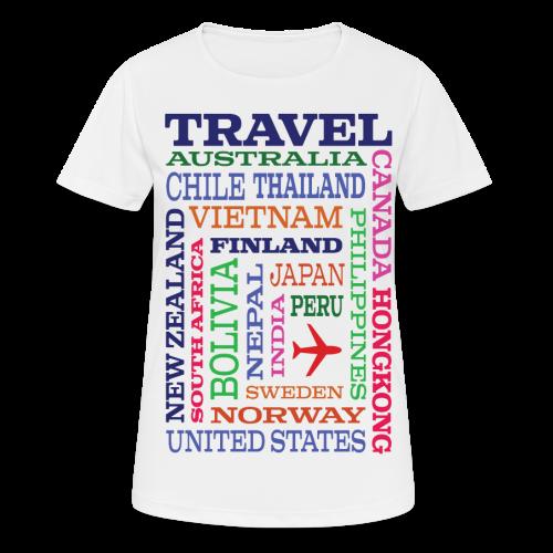 Travel Places design - naisten tekninen t-paita