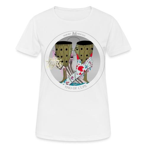 Two of Cups | Zwei der Kelche Tarot Karte - Frauen T-Shirt atmungsaktiv