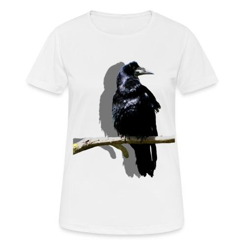 Rabenschwarz - Frauen T-Shirt atmungsaktiv