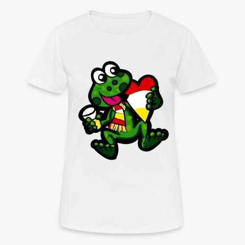 Oeteldonk Kikker - Vrouwen T-shirt ademend actief