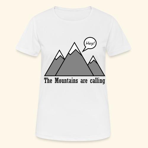mountains calling - Frauen T-Shirt atmungsaktiv