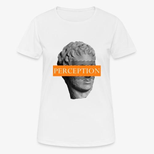 TETE GRECQ ORANGE - PERCEPTION CLOTHING - T-shirt respirant Femme