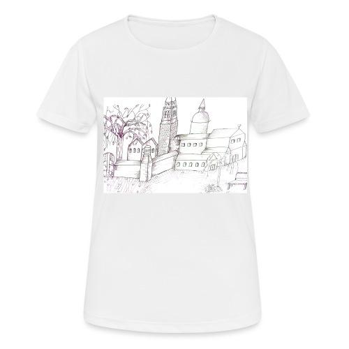 Abstrakte Kunst, Tuschezeichnung, Bild - Frauen T-Shirt atmungsaktiv