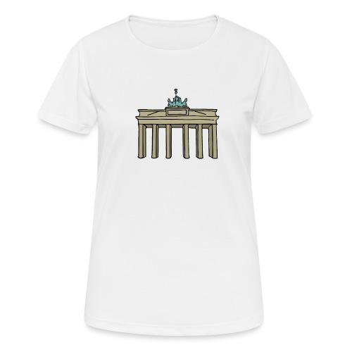 Porta di Brandeburgo a BERLINO c - Maglietta da donna traspirante