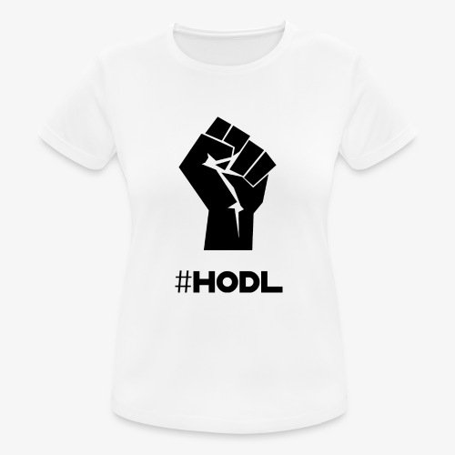 HODL-fist-b - Women's Breathable T-Shirt