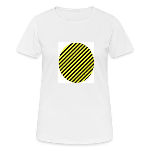 varninggulsvart - Andningsaktiv T-shirt dam