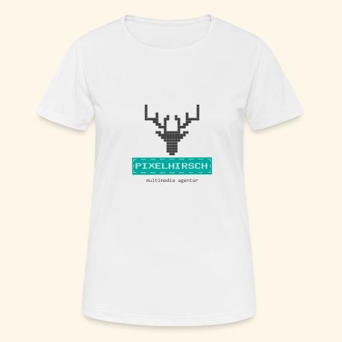 PIXELHIRSCH - Logo - Frauen T-Shirt atmungsaktiv