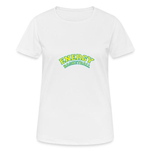 street wear logo giallo energy basketball - Maglietta da donna traspirante