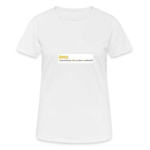 Text-Logo der ÖRSG - Rett Syndrom Österreich - Frauen T-Shirt atmungsaktiv
