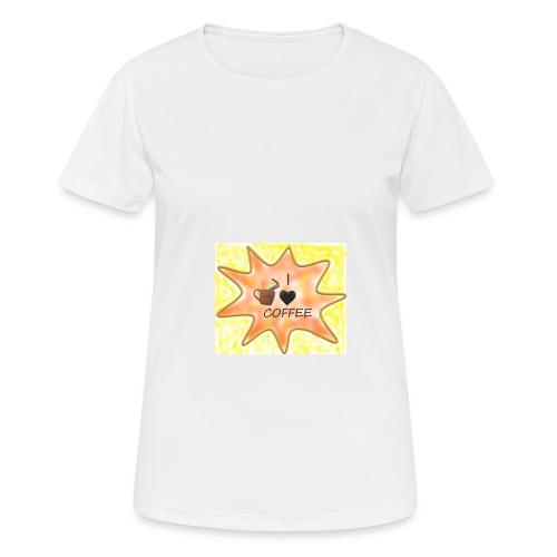 I love coffee - naisten tekninen t-paita