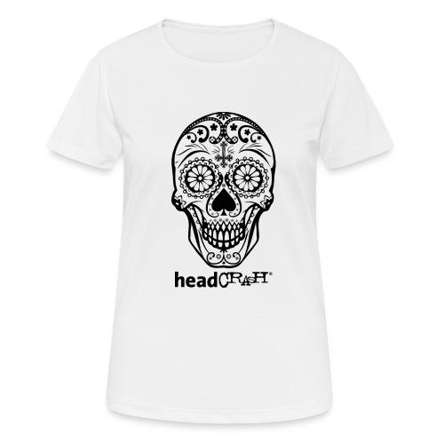 Skull & Logo black - Frauen T-Shirt atmungsaktiv