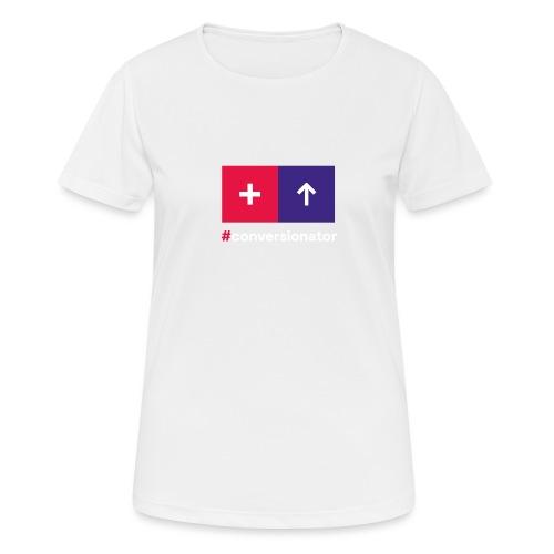Conversionator mit Plus & Pfeil - Frauen T-Shirt atmungsaktiv