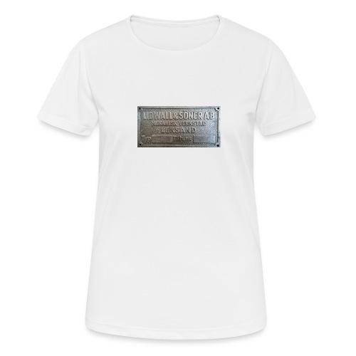 Tillverkningsskylt före 1967 - Andningsaktiv T-shirt dam