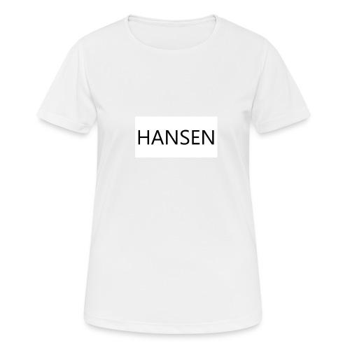HANSENLOGO hvid - Dame T-shirt svedtransporterende