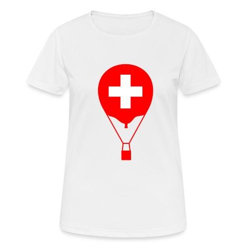 Gasballon im schweizer Design - Frauen T-Shirt atmungsaktiv