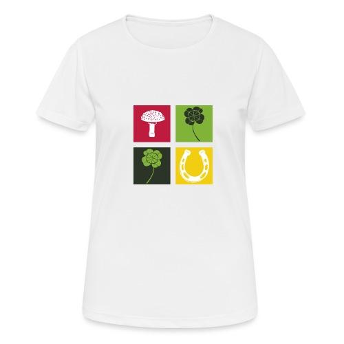 Just my luck Glück - Frauen T-Shirt atmungsaktiv