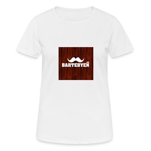 logo bartebyen buttons - Pustende T-skjorte for kvinner