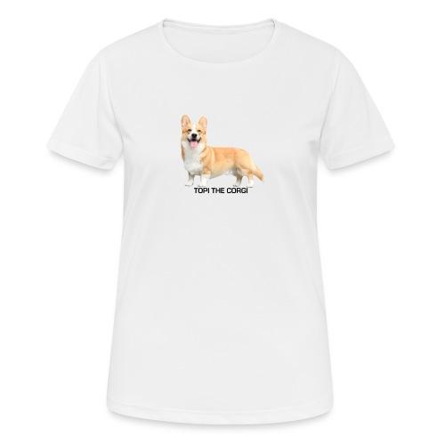 Topi the Corgi - Black text - Women's Breathable T-Shirt