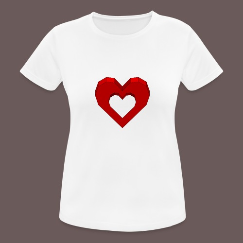 Heart Illusion - Dame T-shirt svedtransporterende