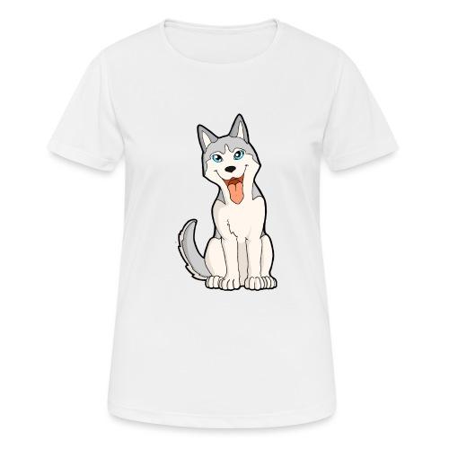 Husky grigio occhi azzurri - Maglietta da donna traspirante