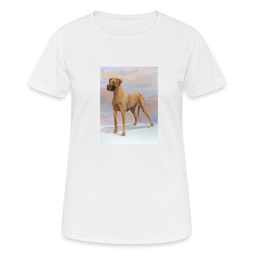 Great Dane Yellow - Dame T-shirt svedtransporterende