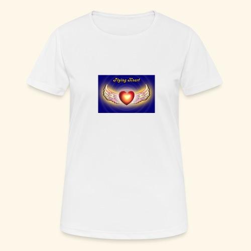 Flying Heart - Frauen T-Shirt atmungsaktiv
