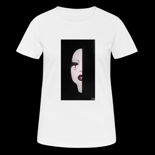 BlackWhitewoman - Maglietta da donna traspirante