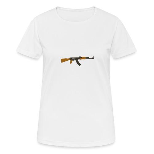 fire-cartoon-gun-bullet-arms-weapon-drawings-png - vrouwen T-shirt ademend