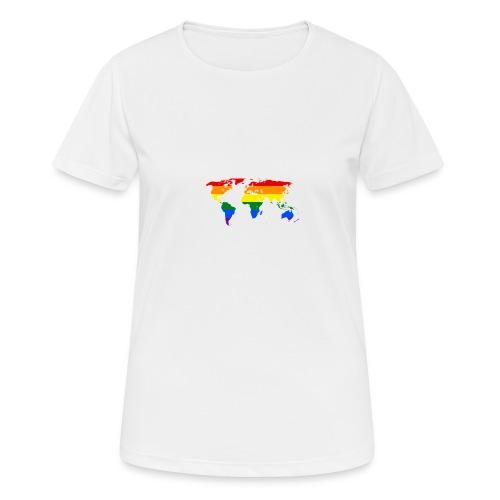 HBTQ WORLD - Andningsaktiv T-shirt dam