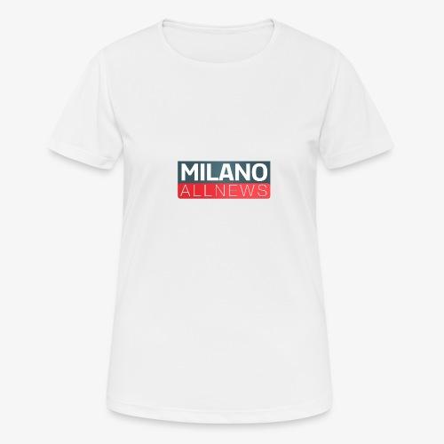 Milano AllNews Logo - Maglietta da donna traspirante