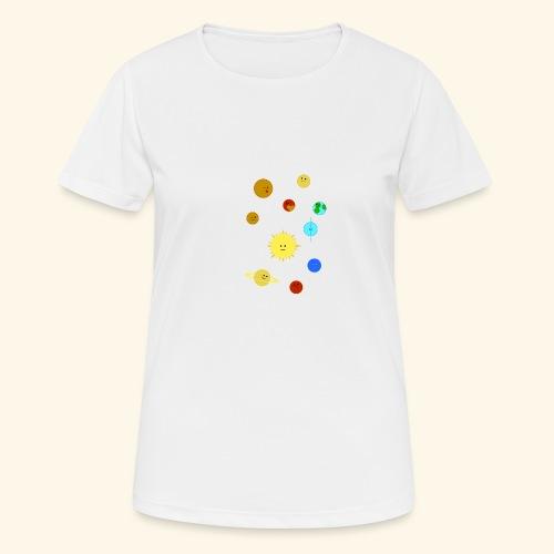 Solsystemet - Andningsaktiv T-shirt dam