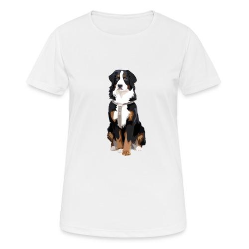 Freja sitter framifrån - Andningsaktiv T-shirt dam
