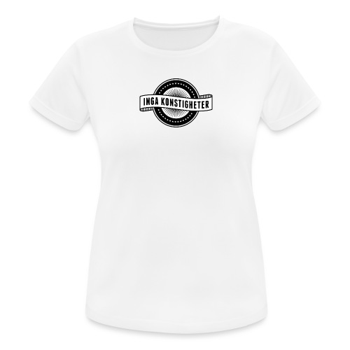 Inga Konstigheters klassiska logga (ljus) - Andningsaktiv T-shirt dam