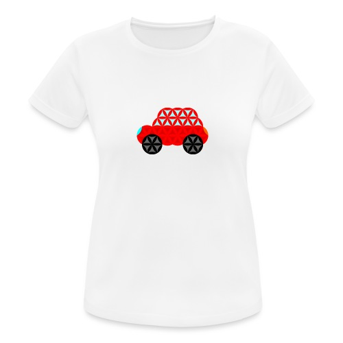 The Car Of Life - M01, Sacred Shapes, Red/R01. - Women's Breathable T-Shirt