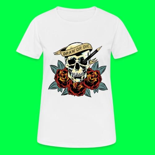 draw or die - T-shirt respirant Femme