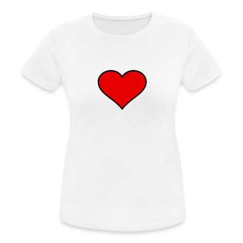 big heart clipart 3 - Andningsaktiv T-shirt dam